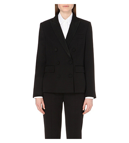 Double-Breasted Wool Jacket, Black
