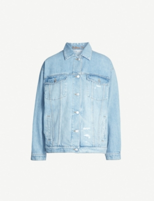 STELLA MCCARTNEY Ripped faded-denim jacket