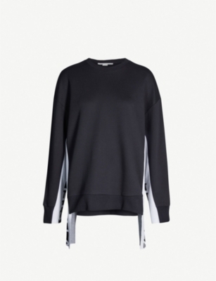 STELLA MCCARTNEY Logo-print cotton-blend sweatshirt