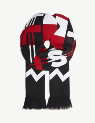STELLA MCCARTNEY - All Is Love wool-blend scarf | Selfridges com