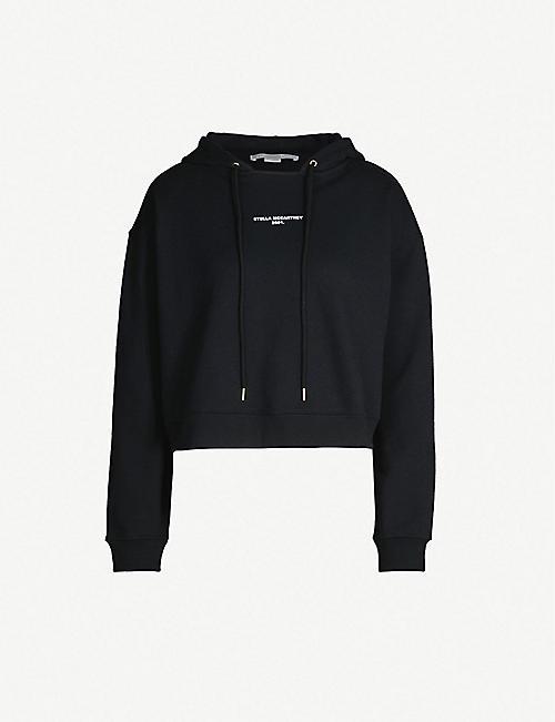 STELLA MCCARTNEY Logo-print cotton-jersey hoody 4814256d65e73