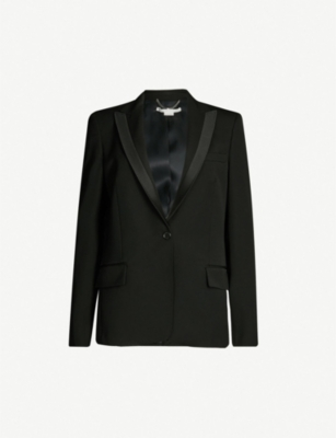 STELLA MCCARTNEY Satin-trimmed wool tuxedo jacket