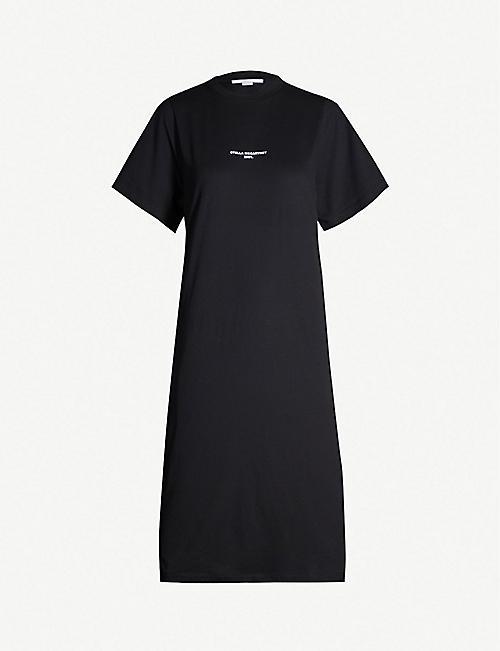 29c493729d457 STELLA MCCARTNEY Logo-print cotton-jerey T-shirt dress
