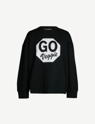 STELLA MCCARTNEY Veggie cotton-jersey sweatshirt