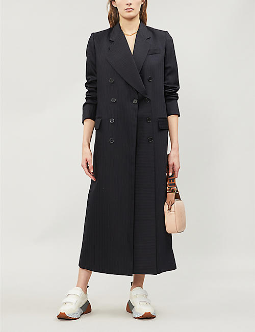 885fc9dda547 STELLA MCCARTNEY Double-breasted wool and cotton-blend coat