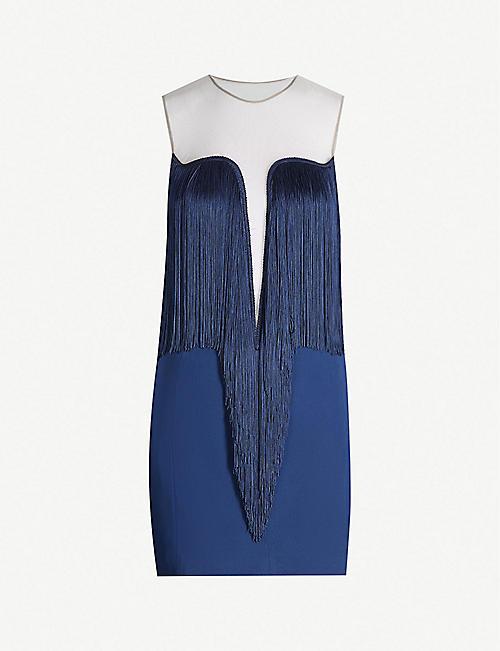 ff4df87cf4 STELLA MCCARTNEY Fringe-trim stretch-crepe mini dress