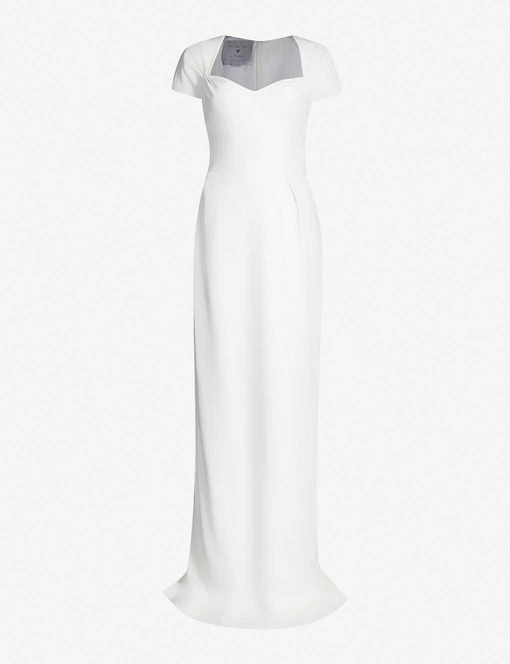 b7ee9fc785 STELLA MCCARTNEY - Rose tie-back stretch-cady gown