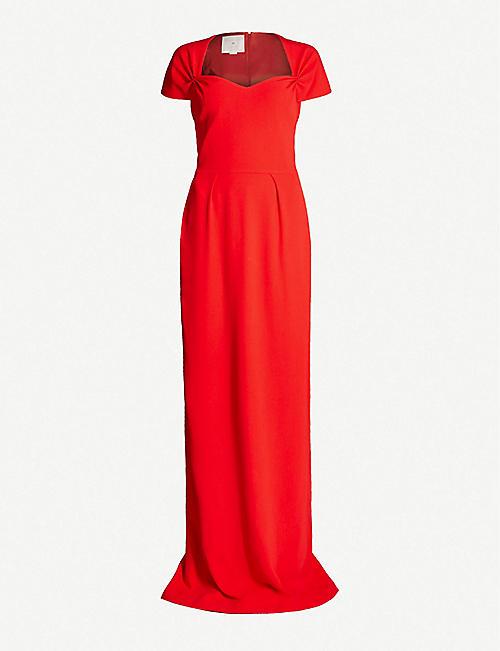 bb5c2022e1dc STELLA MCCARTNEY Rose tie-back stretch-cady gown