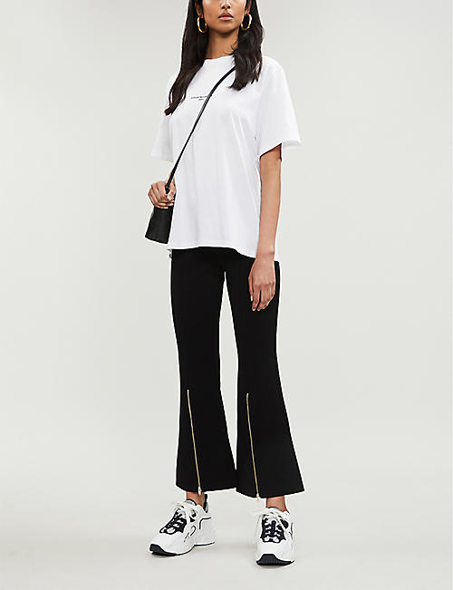 STELLA MCCARTNEY Flared knitted trousers