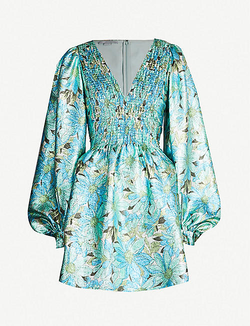 d10e02d132ea8 STELLA MCCARTNEY Floral-print metallic dress