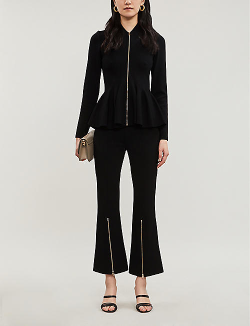 STELLA MCCARTNEY Peplum-hem knitted jacket