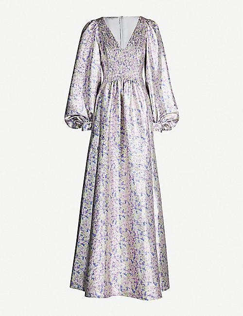 7c9321edb4 STELLA MCCARTNEY Floral-print metallic lurex dress