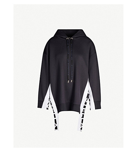 Stella Mccartney Tops Branded-trim oversized jersey hoody