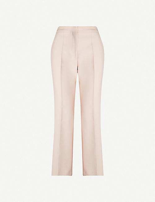 STELLA MCCARTNEY Cropped high-rise wool-blend trousers