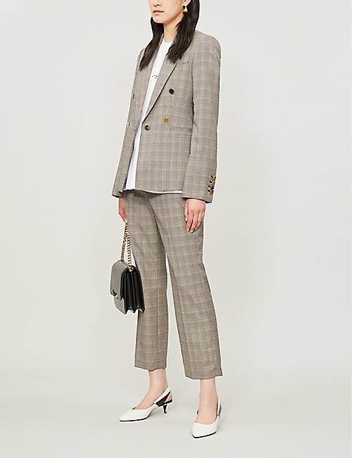 0dc624984d2b STELLA MCCARTNEY Prince of Wales check-print cropped high-rise wool trousers