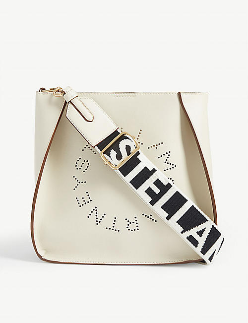 STELLA MCCARTNEY Circle logo faux-leather cross-body bag