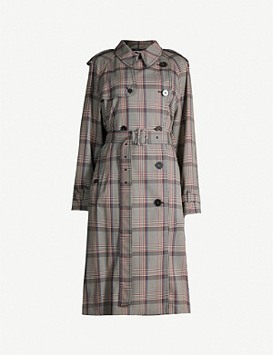 STELLA MCCARTNEY Checked woven trench coat