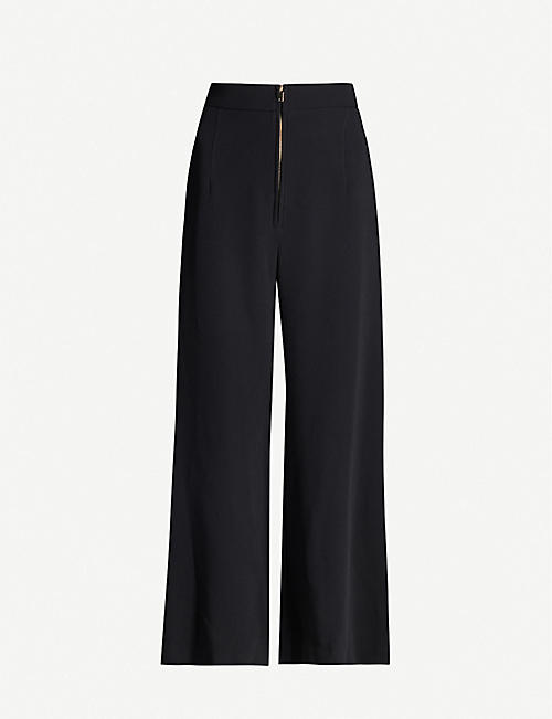 STELLA MCCARTNEY High-rise wide stretch-crepe trousers