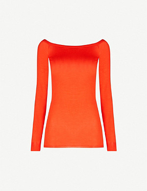STELLA MCCARTNEY Off-the-shoulder wool jumper