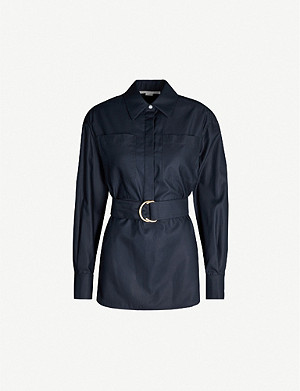 STELLA MCCARTNEY Belted cotton-poplin shirt