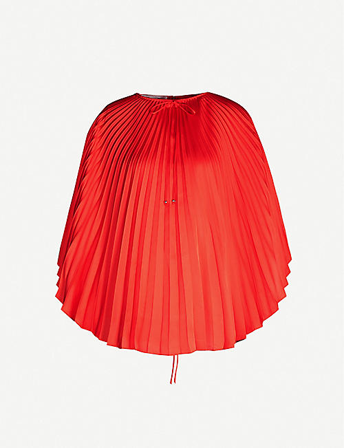 STELLA MCCARTNEY Pleated satin top