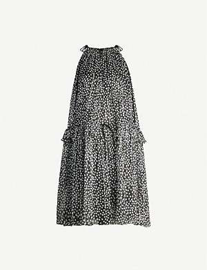 STELLA MCCARTNEY Polka-dot sleeveless silk-blend mini dress