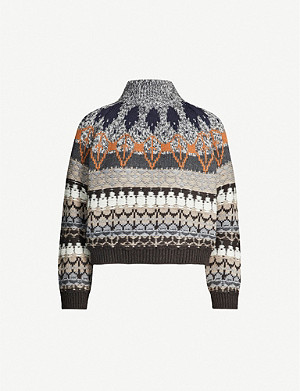 STELLA MCCARTNEY Fairisle wool-blend jumper