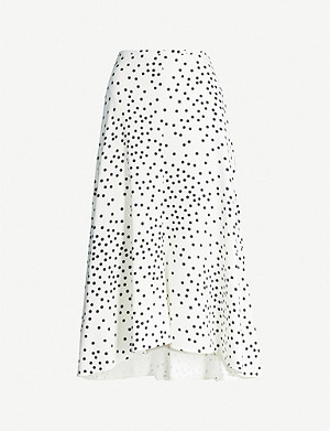 STELLA MCCARTNEY Polka-dot crepe midi skirt
