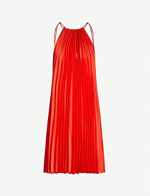 STELLA MCCARTNEY Halterneck pleated crepe mini dress