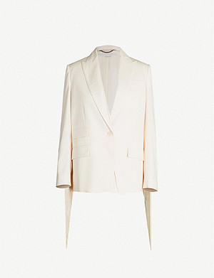 STELLA MCCARTNEY Single-breasted slim-fit wool-blend blazer