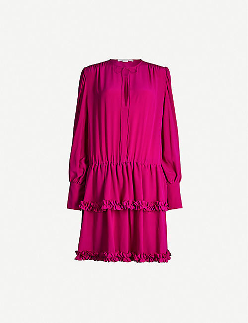 STELLA MCCARTNEY Ruffled silk mini dress