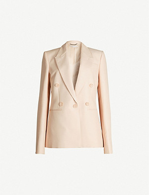 STELLA MCCARTNEY Peak-lapel wool-blend blazer