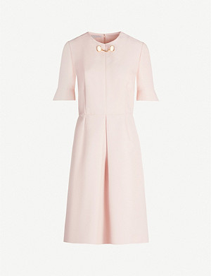 STELLA MCCARTNEY Albane pleated wool-blend mini dress