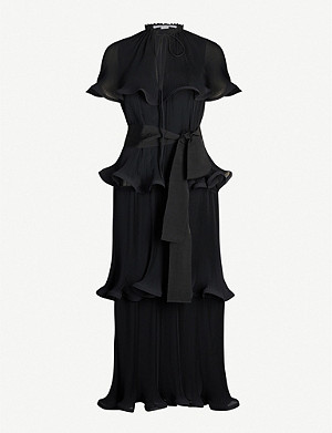 STELLA MCCARTNEY Ruffled chiffon midi dress