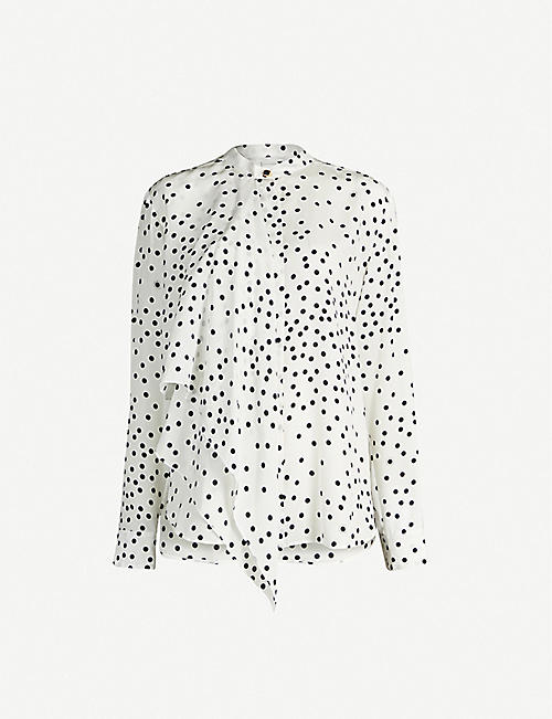 STELLA MCCARTNEY Layered polka dot silk-crepe blouse