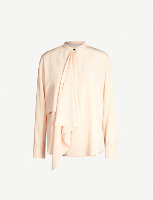 STELLA MCCARTNEY Draped silk blouse