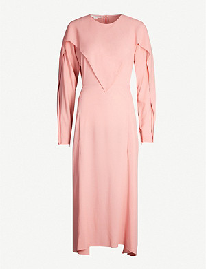 STELLA MCCARTNEY Asymmetric stretch-crepe midi dress