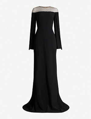 STELLA MCCARTNEY Embellished mesh-panelled crepe gown