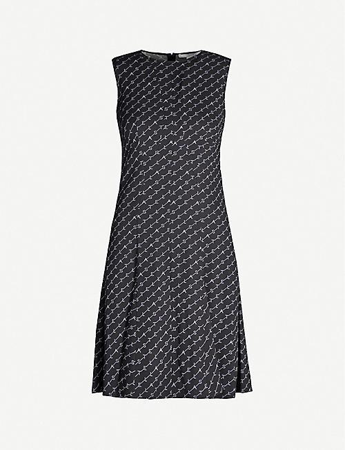 a3924920d67f STELLA MCCARTNEY Logo-print sleeveless crepe mini dress