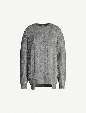 STELLA MCCARTNEY Crewneck cable-knit alpaca-blend jumper