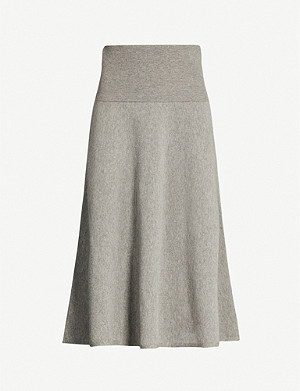 STELLA MCCARTNEY A-line wool-blend midi skirt