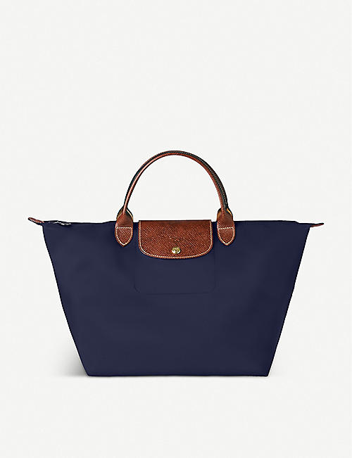LONGCHAMP Le Pliage medium handbag in navy