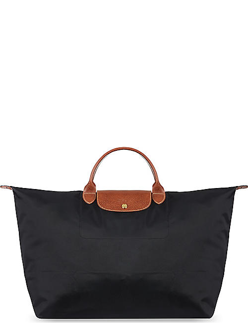 LONGCHAMP Le Pliage medium travel bag in black eac7b09945