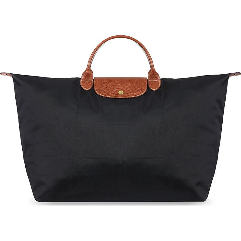 LONGCHAMP | Longchamp Le Pliage Medium Travel Bag In Black, Women'S, Black | Goxip