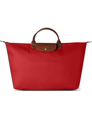 LONGCHAMP: Le Pliage large travel bag in red