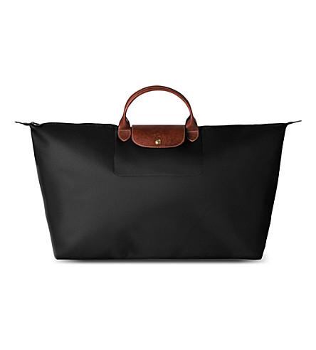 a852f3eb066d LONGCHAMP - Le Pliage large travel bag in black