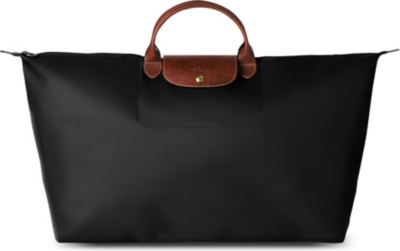LONGCHAMP Le Pliage large travel bag in black