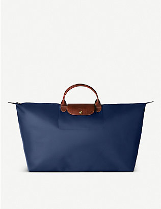 LONGCHAMP: Le Pliage extra large travel bag in navy