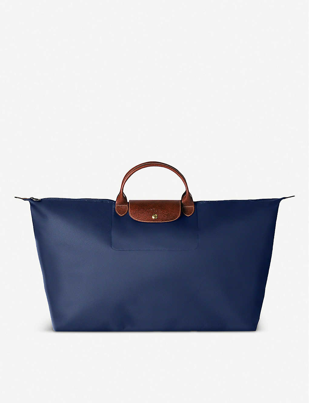 LONGCHAMP: Le Pliage large travel bag in navy