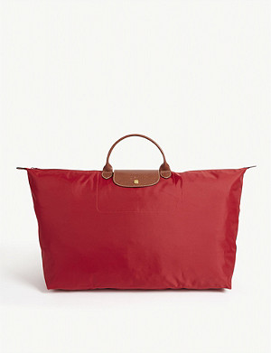 LONGCHAMP Le Pliage large travel bag in red